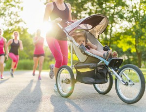 active mother jogging