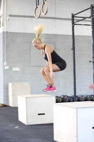 Box jumps can be too high impact for many postnatal women.